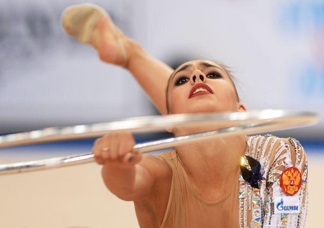 Rosyjska gimnastka Margaryta Mamun podczas Mistrzostw Świata w gimnastyce artystycznej w Stuttgarcie