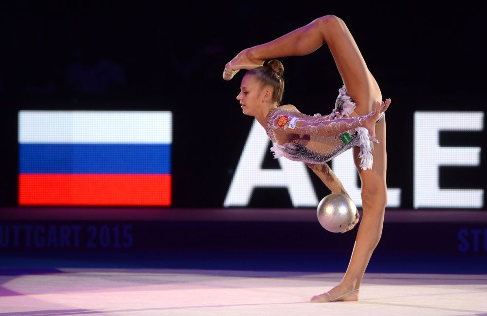 Rosyjska gimnastka Aleksandra Sołdatowa w Stuttgarcie
