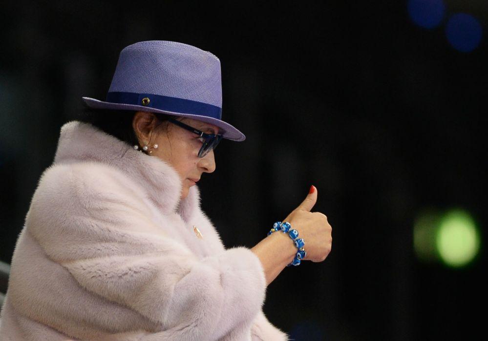 Główny trener rosyjskiej drużyny Irina Winer-Usmanowa na Mistrzostwach Świata w gimnastyce artystycznej w Stuttgarcie