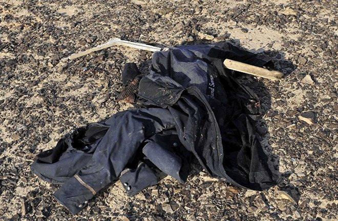 Odzież pasażerów rosyjskiego samolotu pasażerskiego Airbus A321, który rozbił się na Półwyspie Synaj