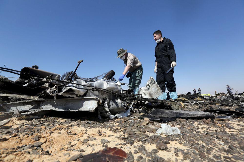 Komitet śledczy na miejscu katastrofy rosyjskiego samolotu A321 na Półwyspie Synaj