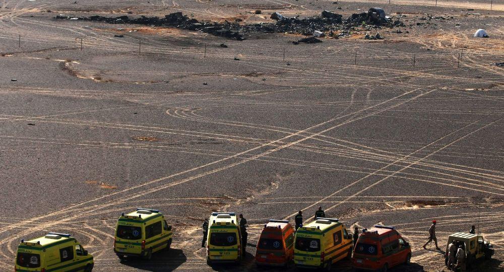 Miejsce katastrofy rosyjskiego samolotu Airbus A321 w Egipcie