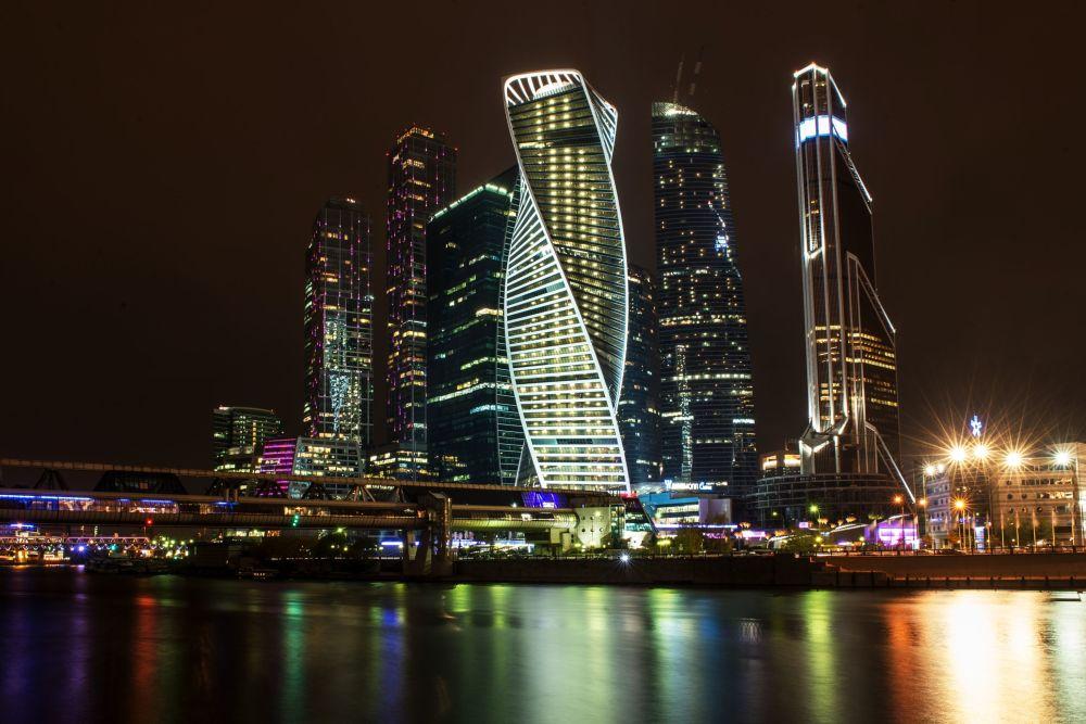 Panorama na  Moskiewskie Międzynarodowe Centrum Biznesowe Moskiewskie City