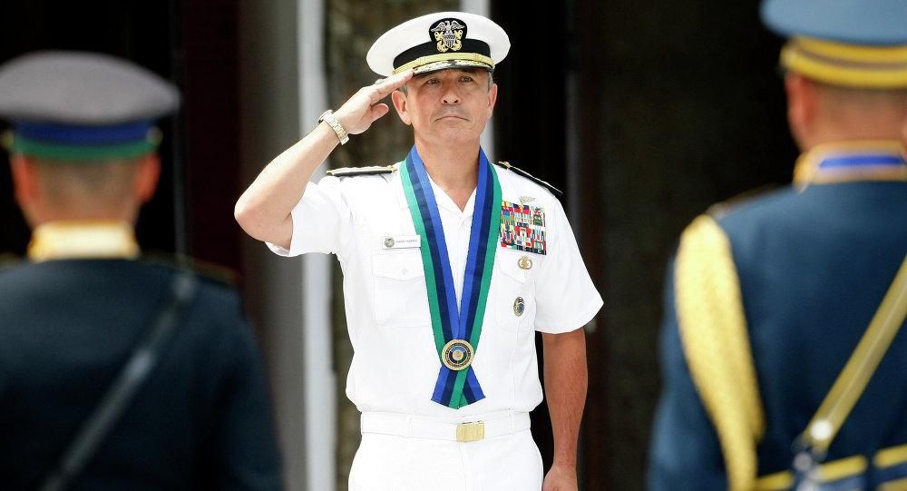 Dowódca wojsk USA na Pacyfiku admirał Harry Harris