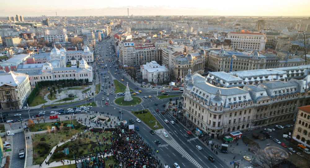 Panorama na stolicę Rumunii Bukareszt
