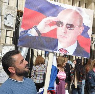 Miting w Latakii z okazji rosyjskiego Dnia Jedności Narodowej