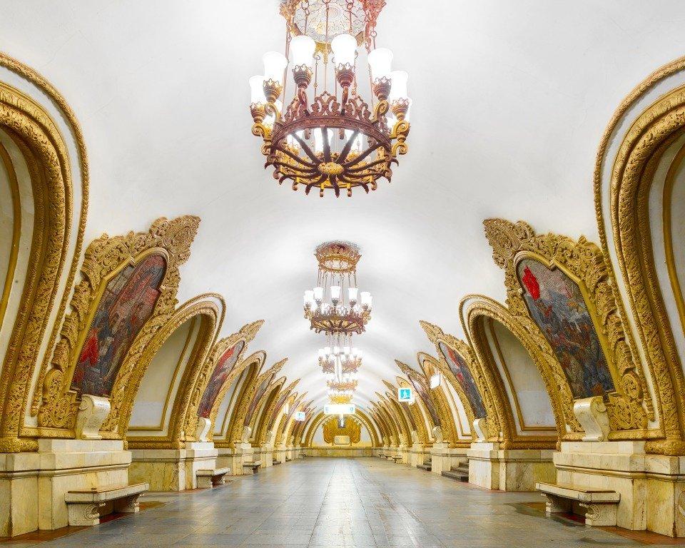 Piękno Moskiewskiego metra na zdjęciach Dawida Bourdeny'ego