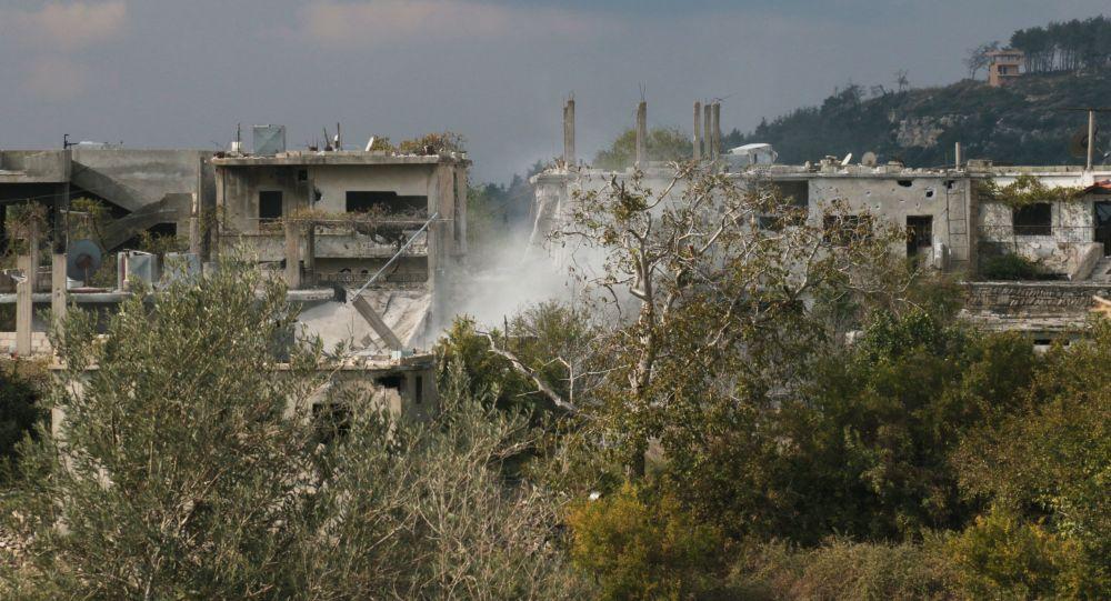 Miejscowość Gmam w prowincji Latakia, oczyszczona z terrorystów przez syryjską armię przy wsparciu rosyjskiego lotnictwa bojowego