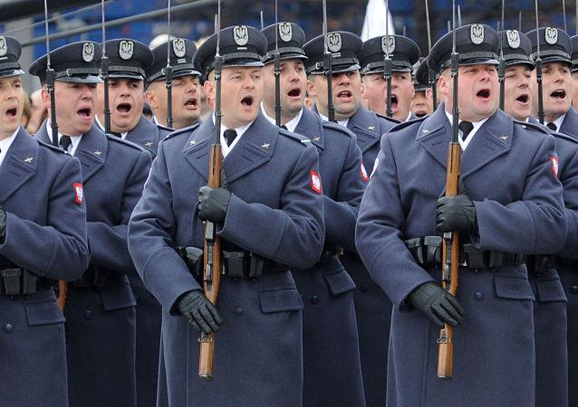 Polscy wojskowi podczas uroczystości z okazji Dnia Niepodległości, 11 listopada 2015 r.
