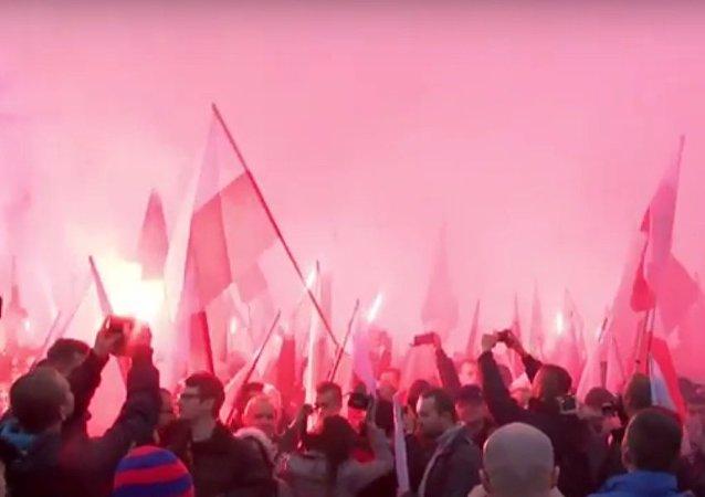 Marsz narodowców w Warszawie, 11 listopada 2015
