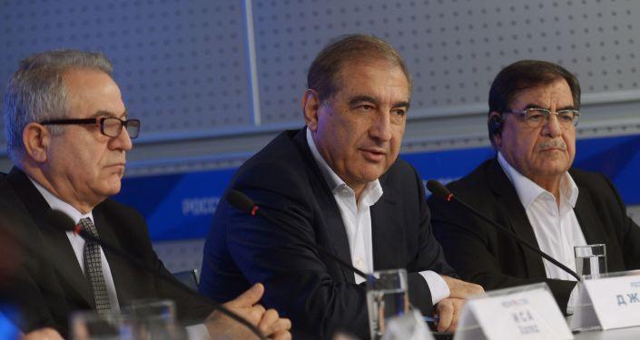 Konferencja prasowa liderów syryjskiej opozycji w Moskwie