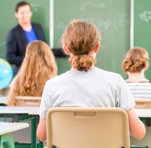 Lekcja matematyki w szkole