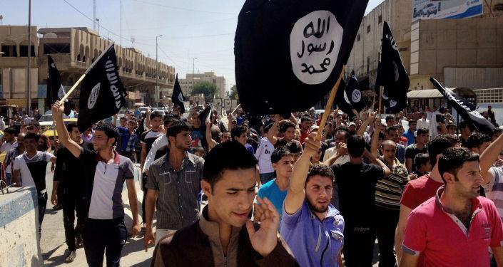 Zwolennicy Państwa Islamskiego w Bagdadzie