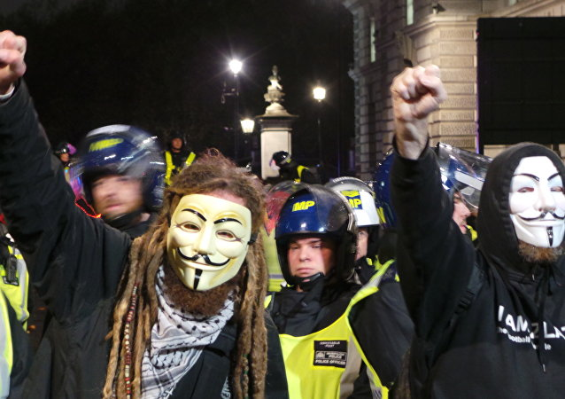 Demonstracja Anonymousów, Londyn 5 listopada 2015