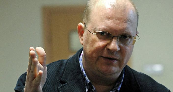 Dziennikarz Leonid Swiridow