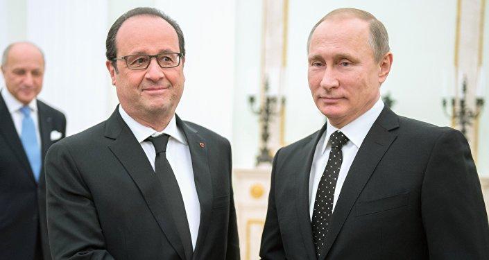 François Hollande i Władimir Putin