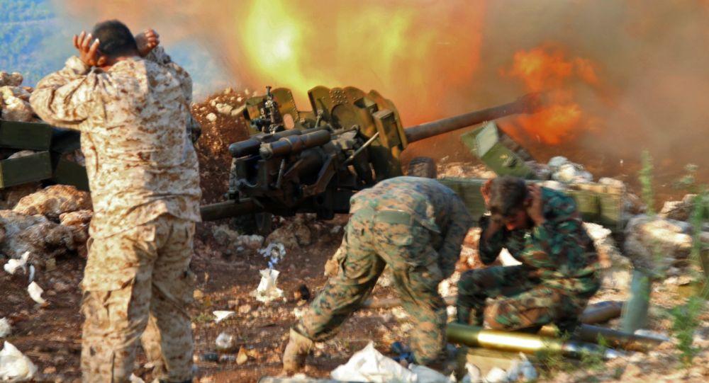 Pozycja syryjskiej armii w okolicach miejscowości Salma