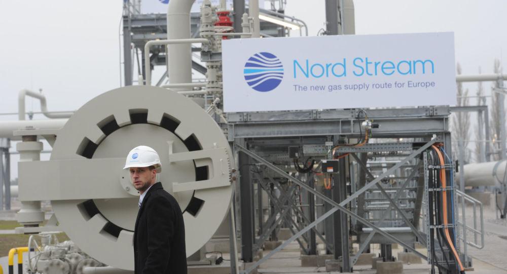 Odcinek głównego gazociągu Gazociąg Północny w niemieckim mieście Lubmin