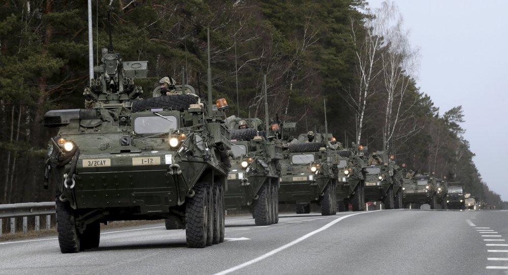 Żołnierze amerykańskiej armii podczas operacji Atlantic Resolve w Estonii