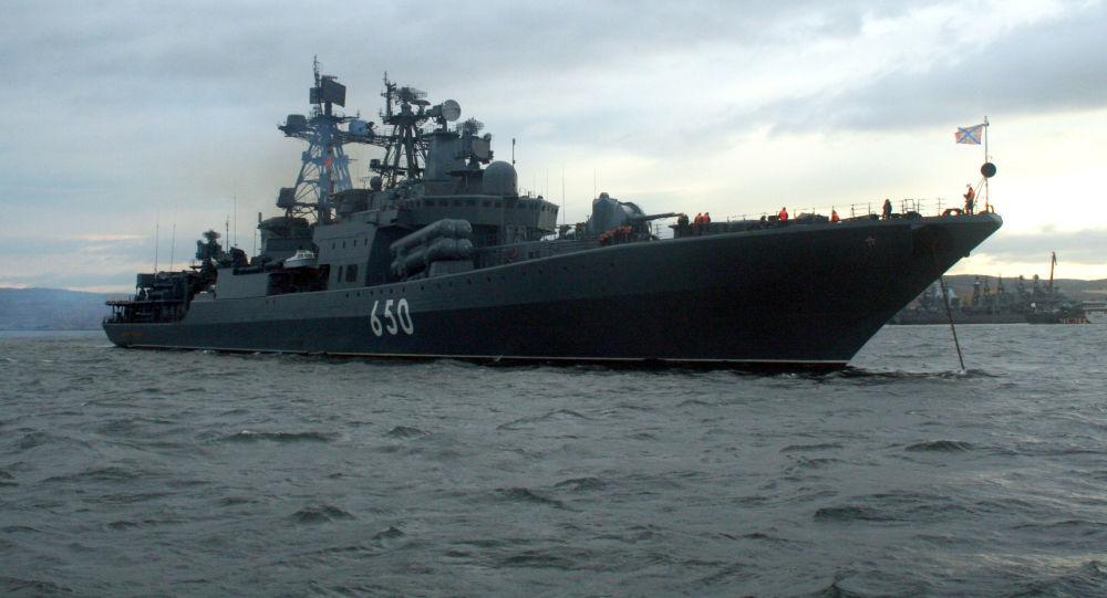 Duży okręt do zwalczania łodzi podwodnych Admirał Czabanenko rosyjskiej Floty Północnej
