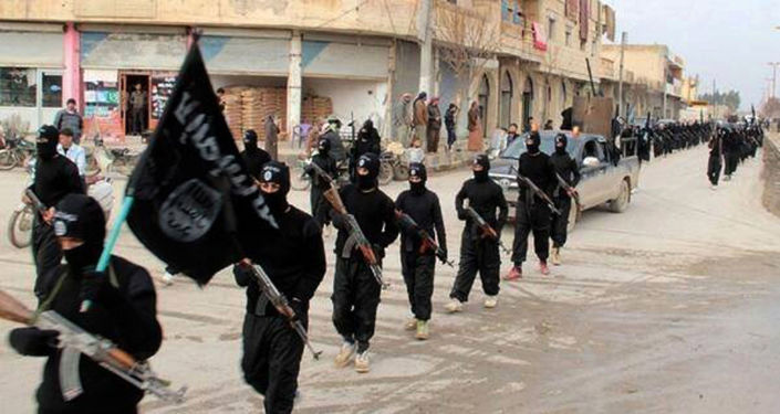 Zwolennicy Daesh w Rakce, Syria
