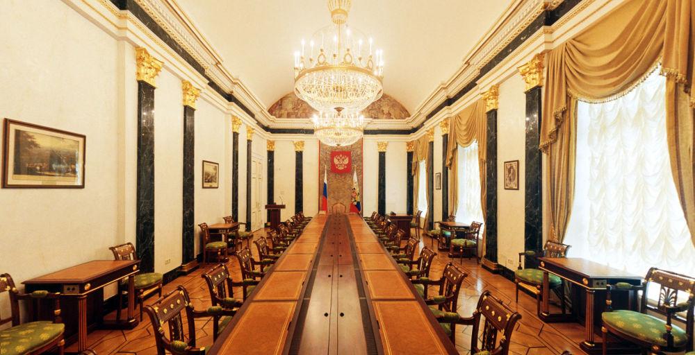 Sala konferencyjna Rady Bezpieczeństwa Pałacu Senackiego w Kremlu