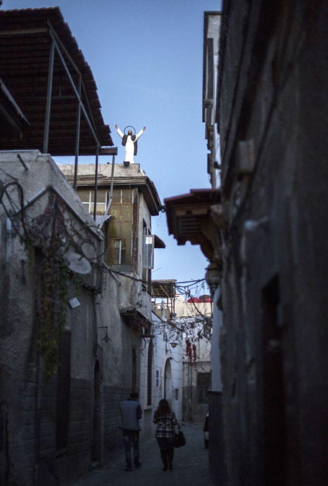 Widok na jedną z ulic chrześcijańskiej dzielnicy w Damaszku