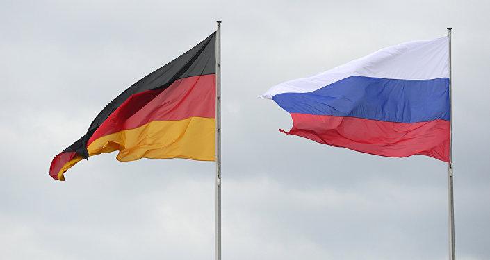 Flagi Niemiec i Rosji