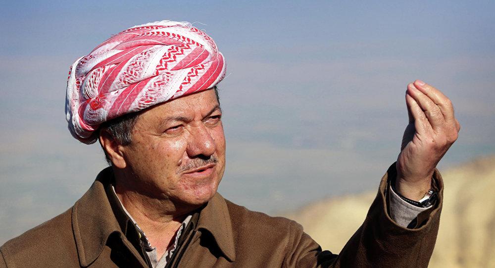 Prezydent autonomicznego rządu kurdyjskiego w północnym Iraku Masud Barzani