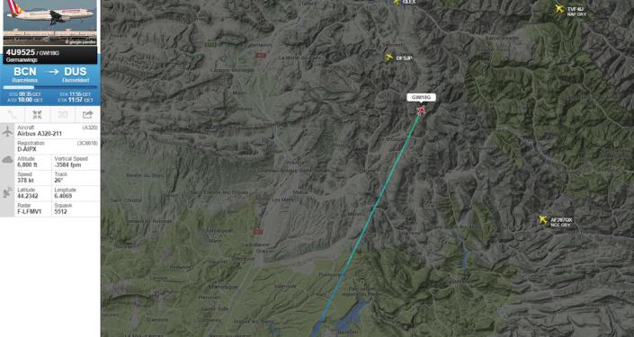 Zdjęcie strony Flightradar24 samolot Airbus A320