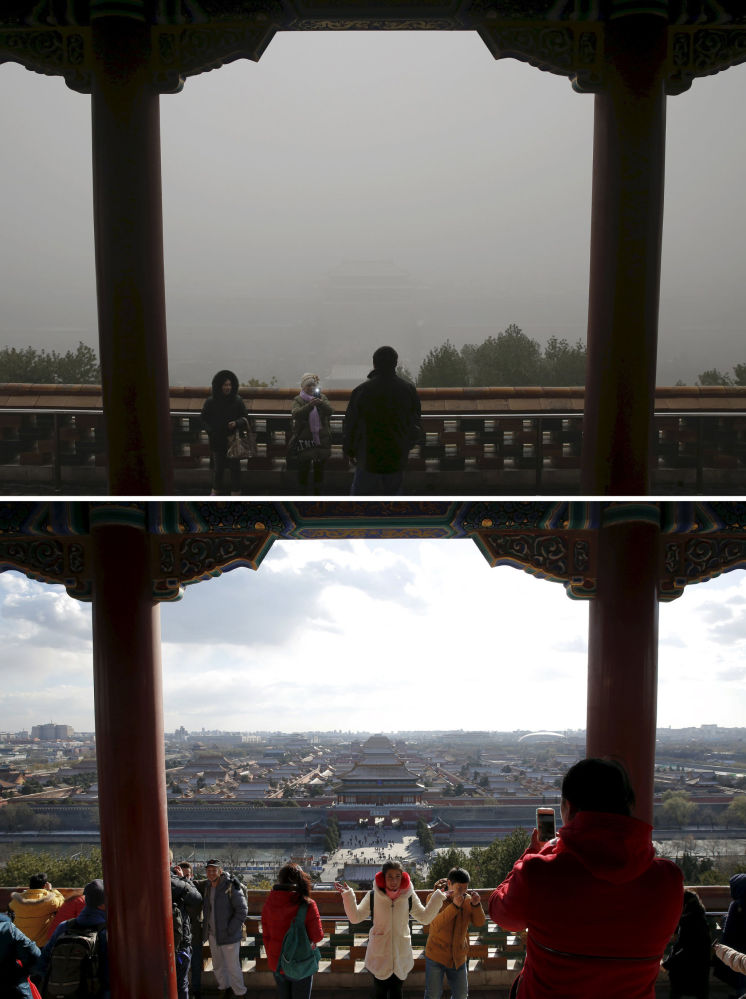 Zakazane Miasto przed i po smogu w Chinach