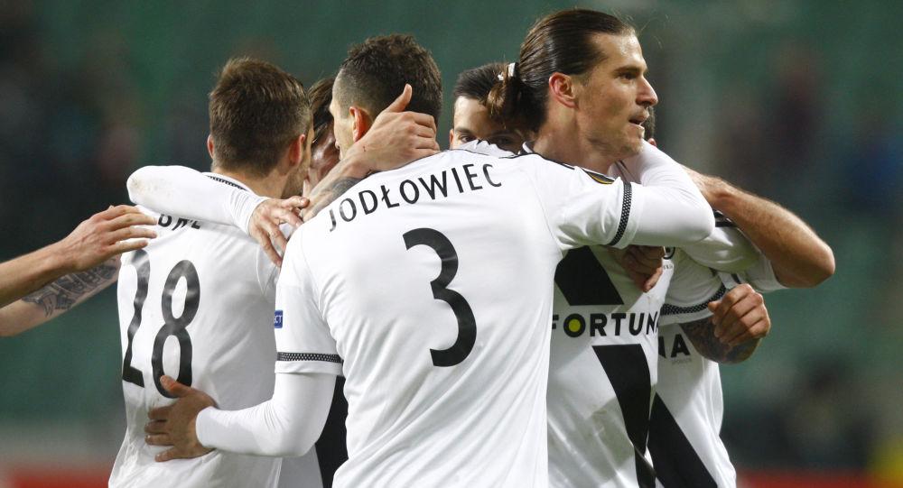 Piłkarze polskiego klubu Legia Warszawa
