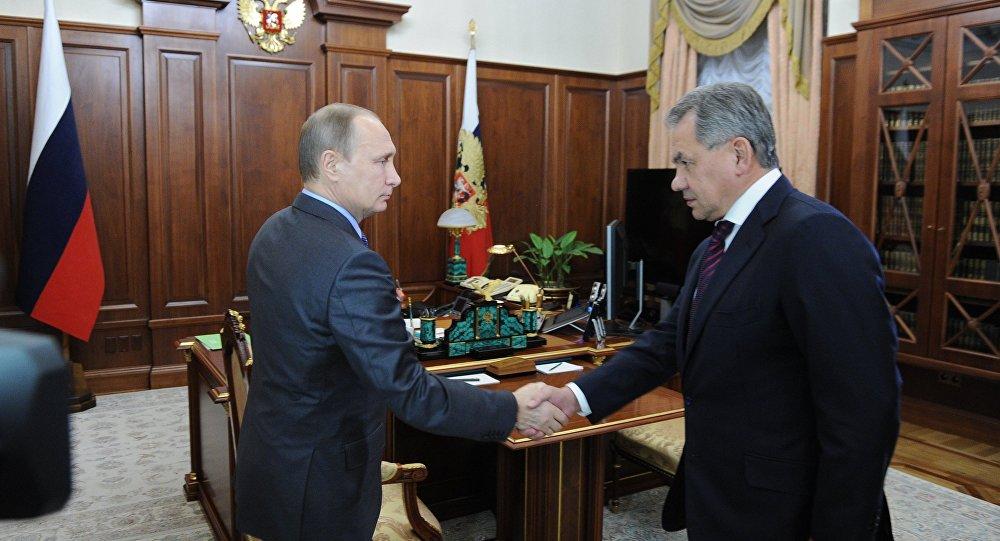 Prezydent Rosji Władimir Putin spotkał się z ministrem obrony Rosji Siergiejem Szojgu