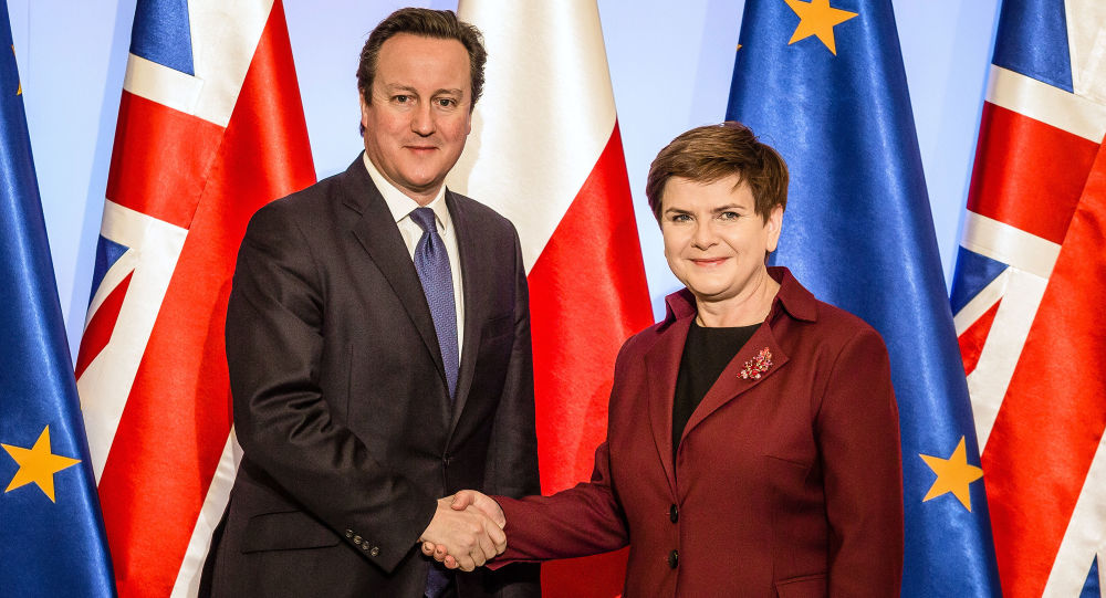 Premier Wielkiej Brytanii David Cameron i premier Polski Beata Szydło w Warszawie