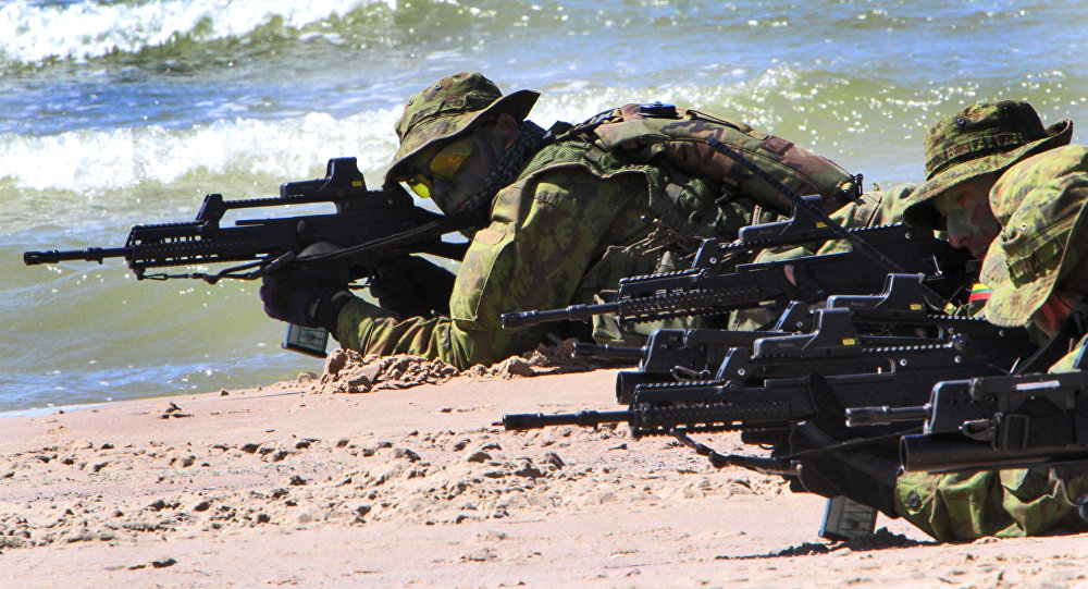 Litewscy żołnierze uczestniczą w ćwiczeniach BALTOPS 2012