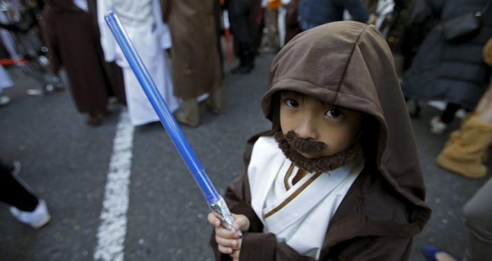 Uczestnik Halloween-parady w Japonii