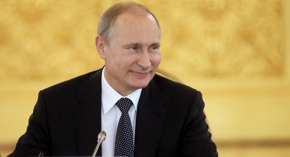 Władimir Putin na szczycie Eurazjatyckiej Unii Gospodarczej w Kremlu