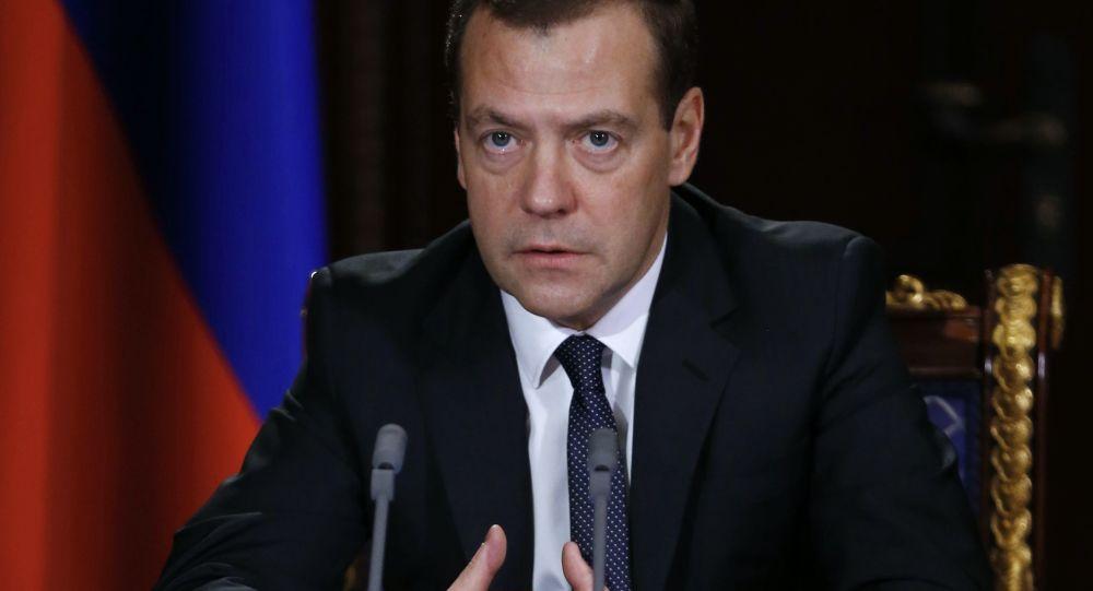 Premier Rosji Dmitrij Miedwiediew przeprowadził naradę z wicepremierami Rosji