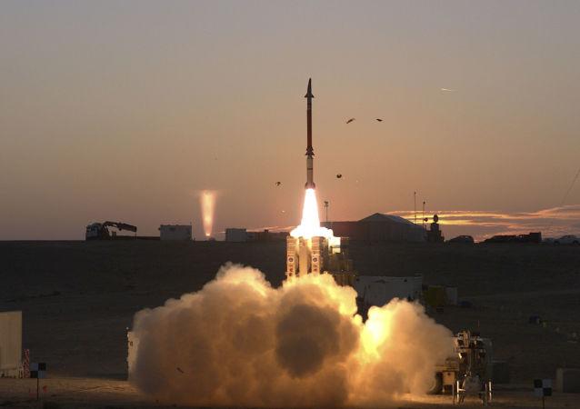Start systemu obrony przeciwrakietowej David Sling w Izraelu