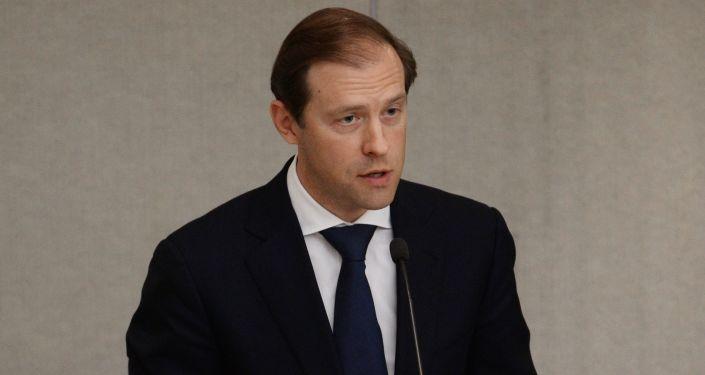 Minister przemysłu i handlu Rosji Denis Manturow