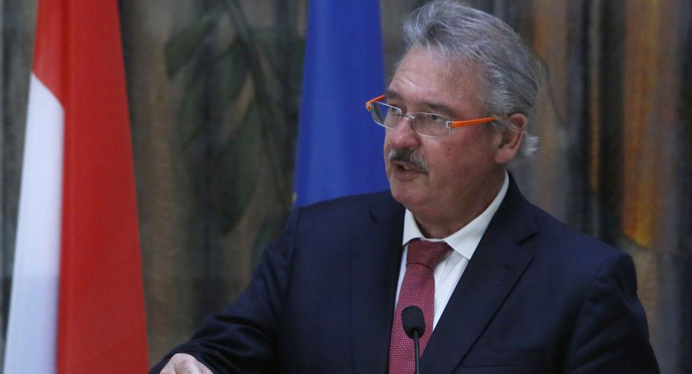 Minister spraw zagranicznych Luksemburga Jean Asselborn w Nikozji