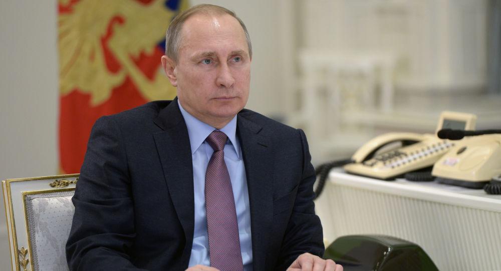 Prezydent Rosji Władimir Putin w Moskwie
