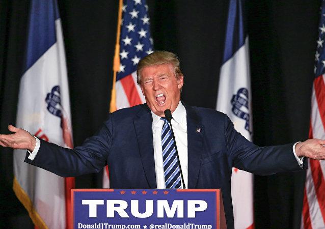 Republikański kandydat na prezydenta Stanów Zjednoczonych Donald Trump