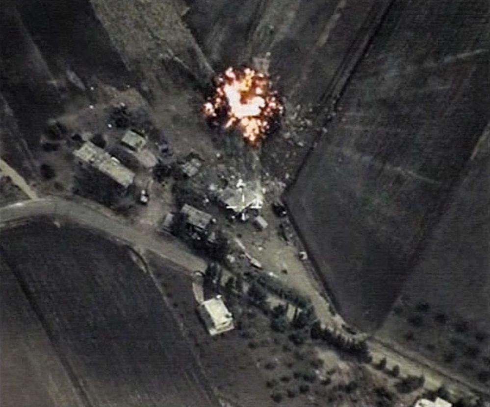 Naloty punktowe przeprowadzone przez rosyjskie lotnictwo wojskowe na obiekty ugrupowania terrorystycznego Państwo Islamskie (Daesh) w Syrii.