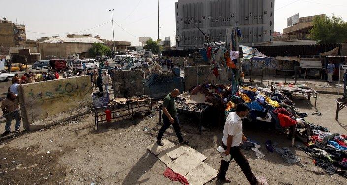Nach der Explosion in Bagdad