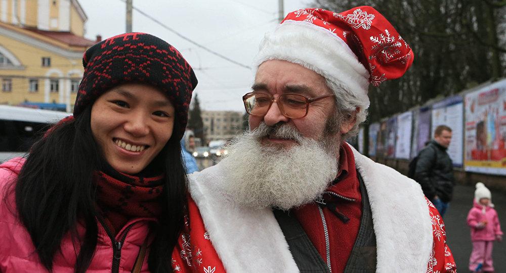 Paradzie św. Mikołajów w Kaliningradzie