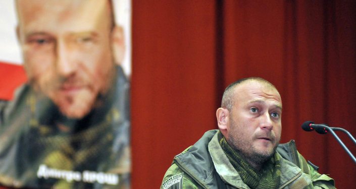 Lider Prawego Sektora Dmytro Jarosz