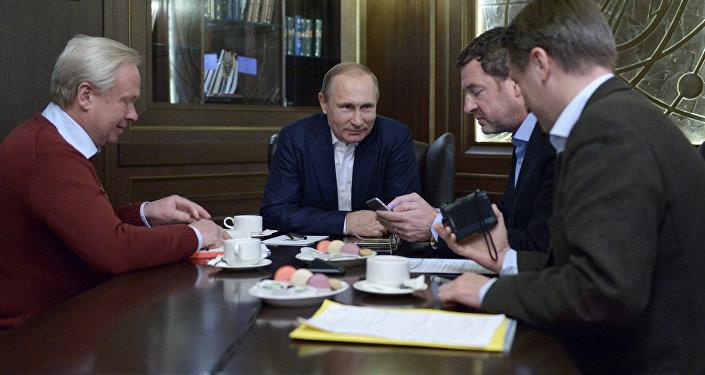 Prezydent Rosji Władimir Putin podczas wywiadu dla niemieckiej gazety Bild