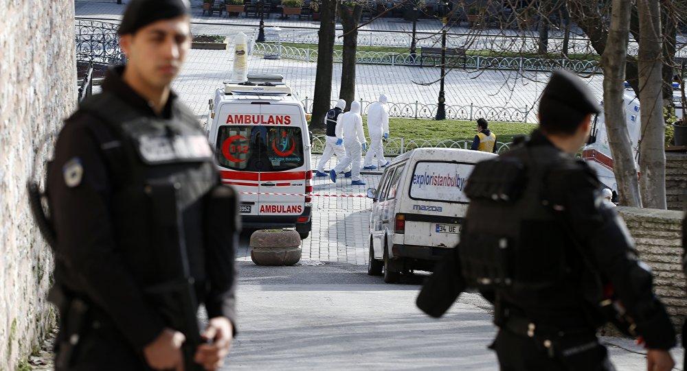 Policja w centrum Stambułu