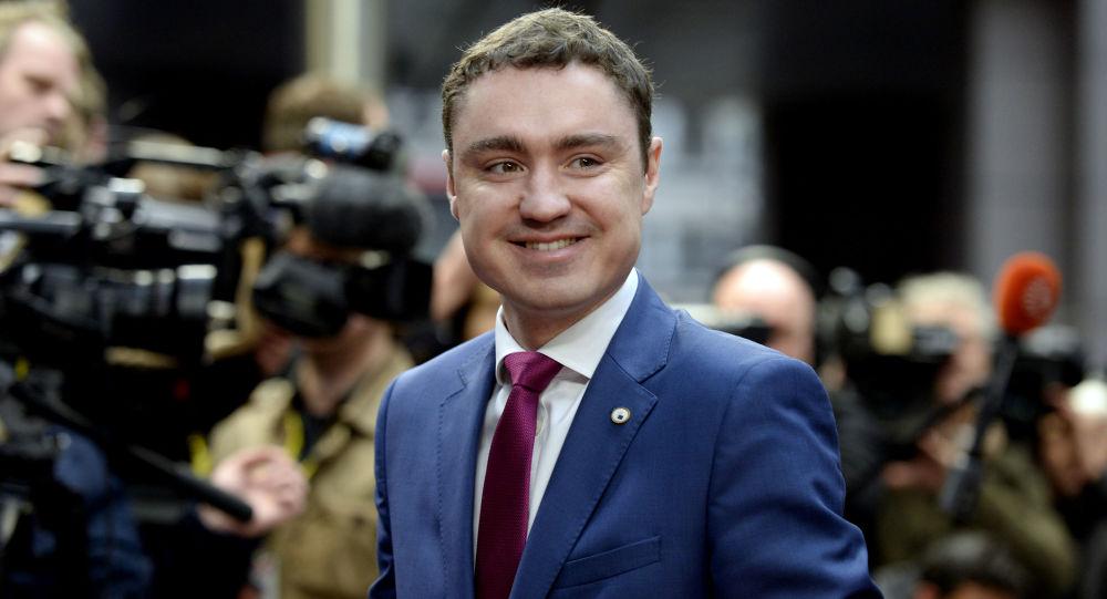 Premier Estonii Taavi Rõivas w Brukseli